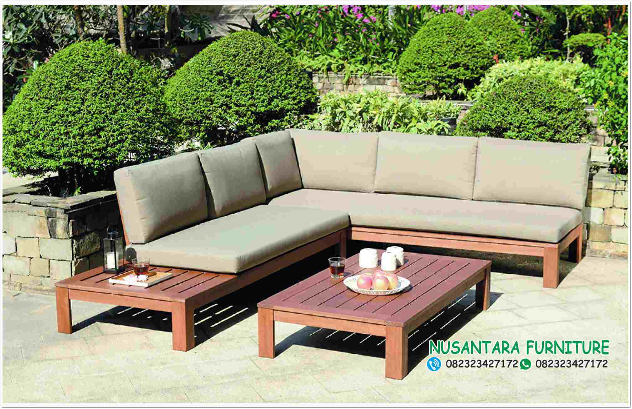 Kursi Sudut Minimalis Miami wooden garden lounge set out and out original